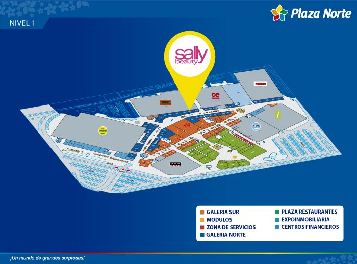 Sally Beauty - Mapa de Ubicación - Plaza Norte