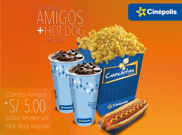 Combo Amigos + Hot dog a S/5.00 soles - Plaza Norte