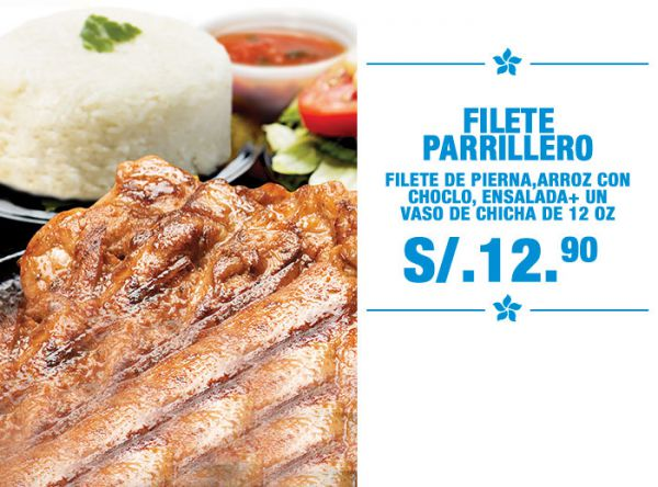 Filete Parrillero a S/.12.90 - Otto Grill - Plaza Norte
