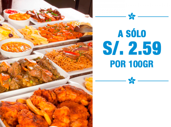 Buffet desde S/ 2.59 - Plaza Norte