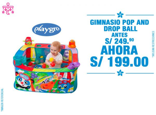 Gimnasio Pop and Drop a S/ 19 - Baby Infanti Store - Plaza Norte