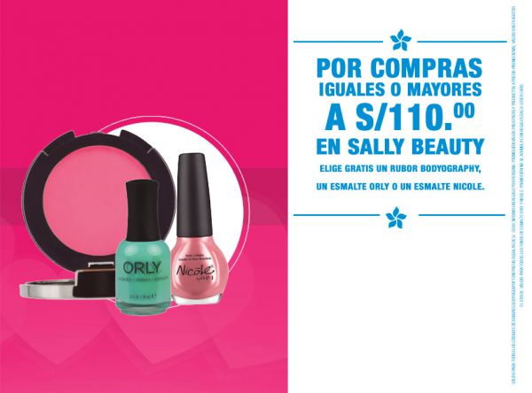 Llévate gratis un rubor - Sally Beauty - Plaza Norte
