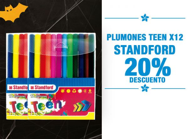 PLUMONES TEEN X12 STANDFORD A - Plaza Norte