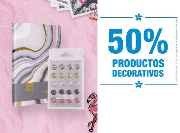 50% en productos decorativos  - Plaza Norte