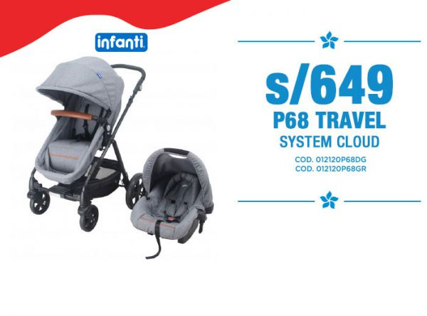 S/649 P68 TRAVEL SYSTEM CLOUD Baby Infanti Store - Plaza Norte