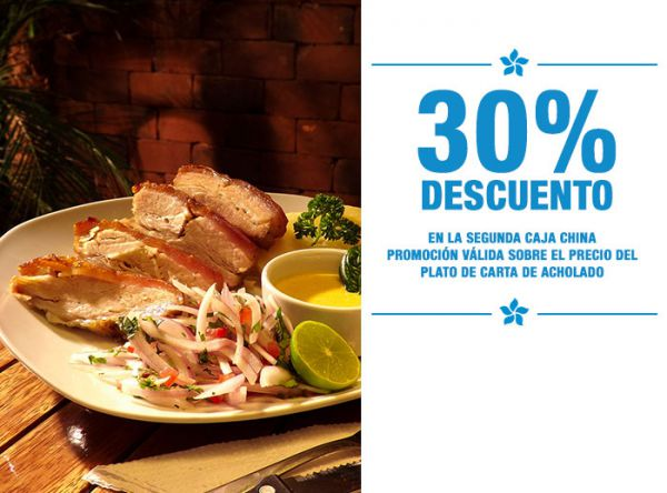 30% DESC. 2DA CAJA CHINA - Plaza Norte