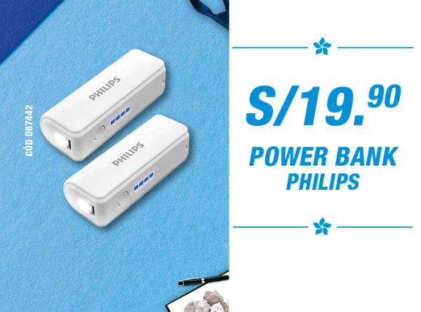 S/19.90 POWER BANK PHILIPS - Utilex - Plaza Norte