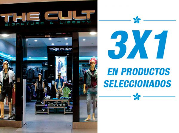3X1 EN PRODUCTOS SELEC - THE CULT - Plaza Norte