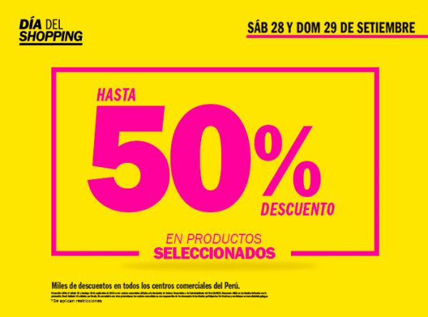 DÍADELSHOPPING HASTA 50% DCTO - Plaza Norte