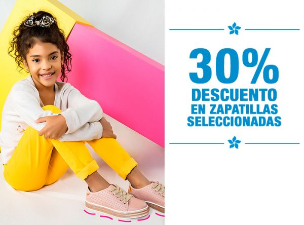 30% DCTO EN ZAPATILLAS SELEC. - Mossa Kids  - Plaza Norte