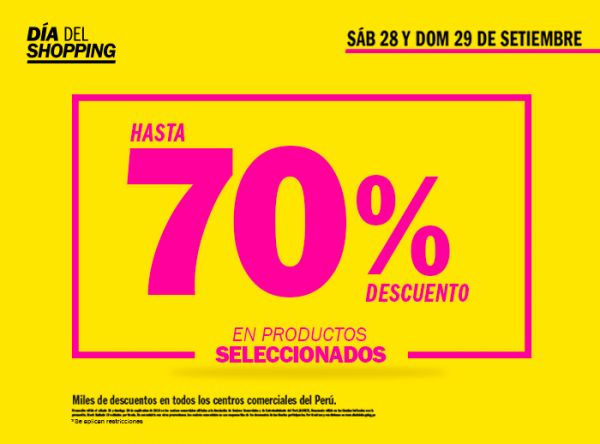 DÍADELSHOPPING HASTA 70% DCTO - Plaza Norte