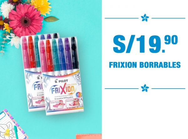 S/19.90 FRIXION BORRABLES  - Plaza Norte