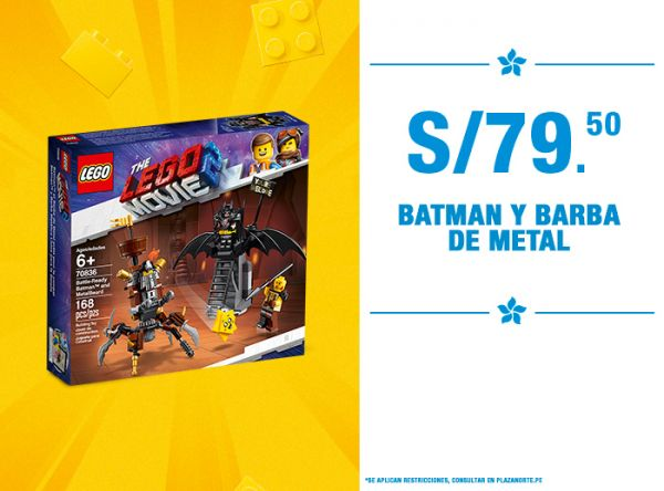 Batman y Barba Metal a S/79.9 - Plaza Norte