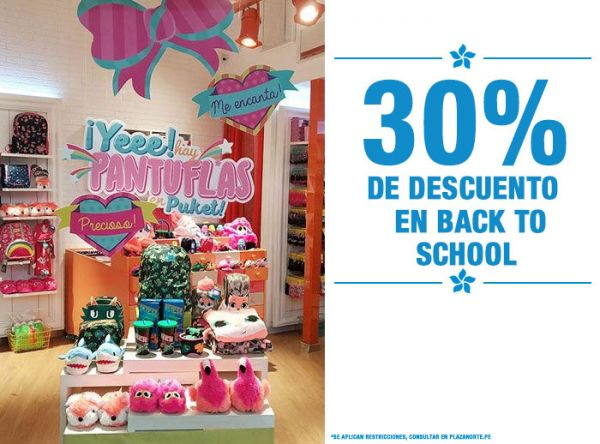 30% DSCTO EN BACK TO SCHOOL - Plaza Norte