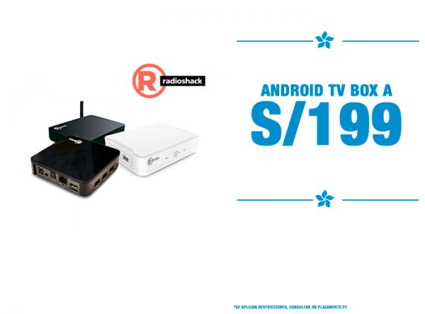 ANDROID TV BOX A S/199 - Plaza Norte