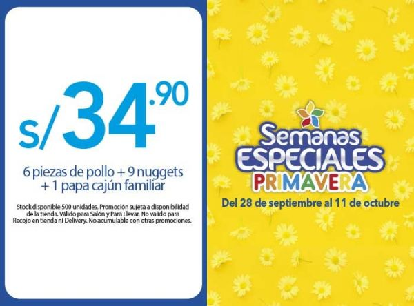 COMBO A S/34.90 - Popeyes - Plaza Norte