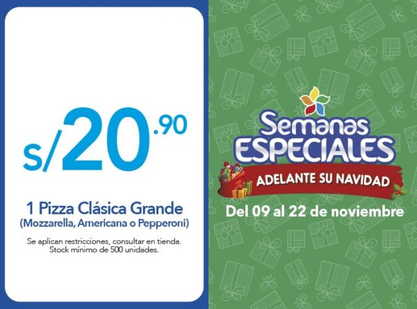 PIZZA CLÁSICA GRANDE S/20.90 - Chuck E.Cheese's - Plaza Norte