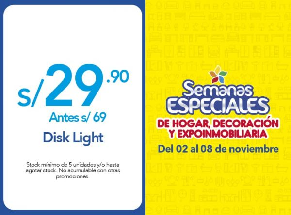 DISK LIGHT A S/.29.90 - QUALITY STORE - Plaza Norte