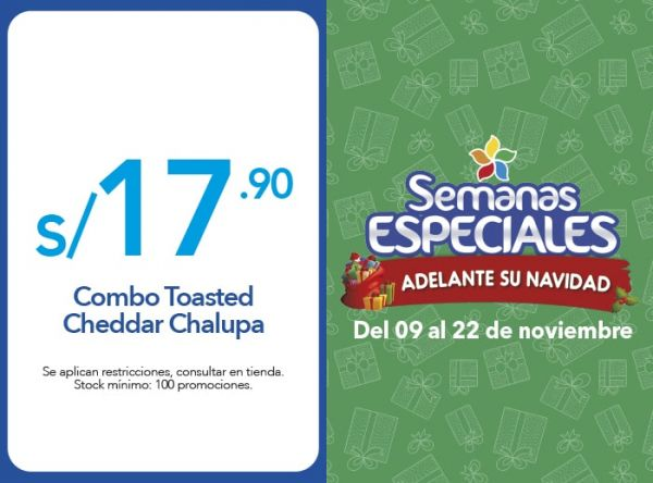 COMBO TOASTED CHEDDAR S/17.90 - Plaza Norte