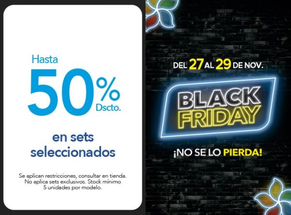 HASTA 50% DSCTO SETS SELECC. - Plaza Norte