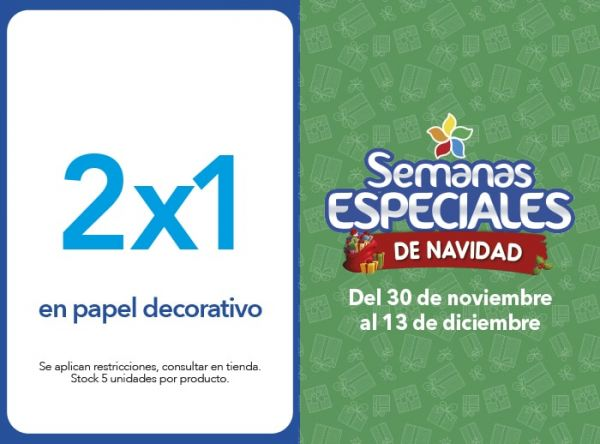 2X1 EN PAPEL DECORATIVO - COLOMURAL - Plaza Norte