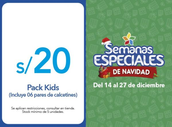PACK KIDS A S/20 - Plaza Norte