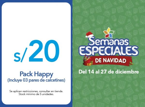 PACK HAPPY A S/20 - Plaza Norte