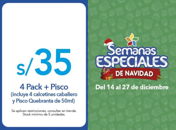 4 PACK+PISCO A S/35 - Plaza Norte