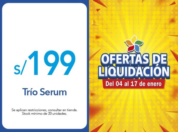 TRIO SERUM S/199 - Plaza Norte