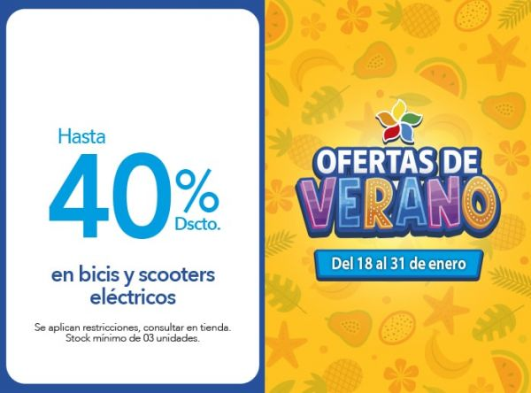 HASTA 40% DSCTO BICIS Y SCOOT URBAN RIDER - Plaza Norte