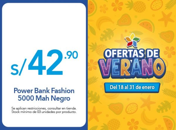 POWER BANK 5000 MAH A S/42.90 USAMS - Plaza Norte