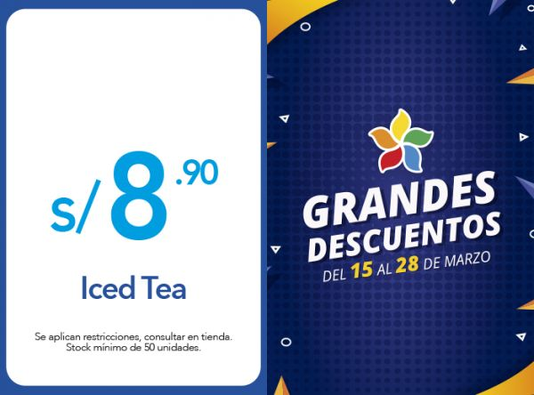 ICED TEA A S/ 8.90 - FRUTIX - Plaza Norte