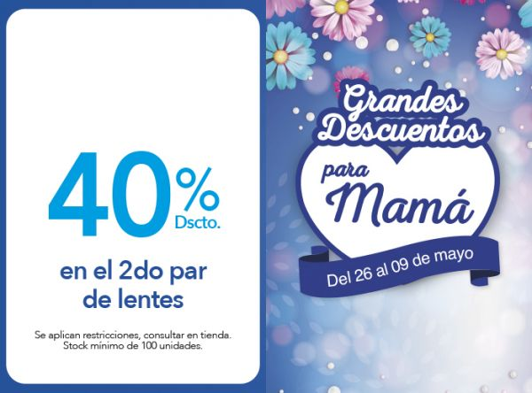 40% DSCTO. EN EL 2DO PAR DE LENTES Sunglass Hut - Plaza Norte