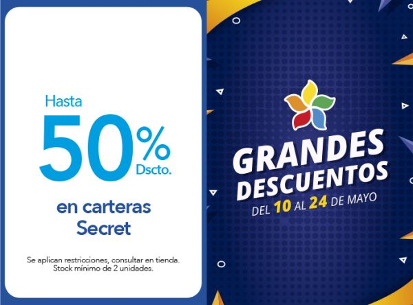 HASTA 50% DSCTO. EN CARTERAS SECRET Samsonite - Plaza Norte
