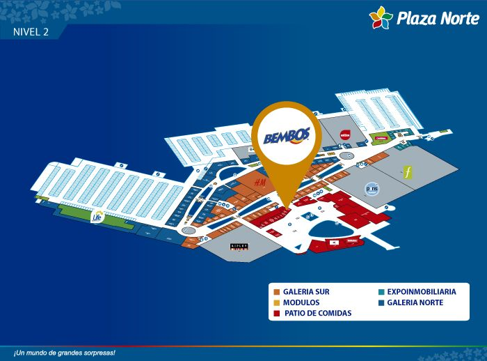 Bembos - Mapa de Ubicación - Plaza Norte