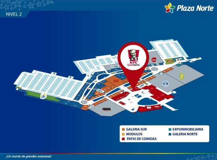 KFC Patio de Comidas - Mapa de Ubicación - Plaza Norte