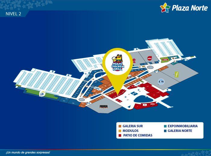 Miami Chicken Grill - Mapa de Ubicación - Plaza Norte