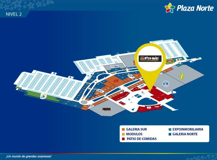 Otto Grill - Mapa de Ubicación - Plaza Norte