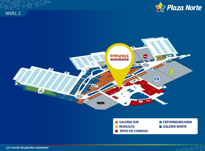 Popeyes - Mapa de Ubicación - Plaza Norte