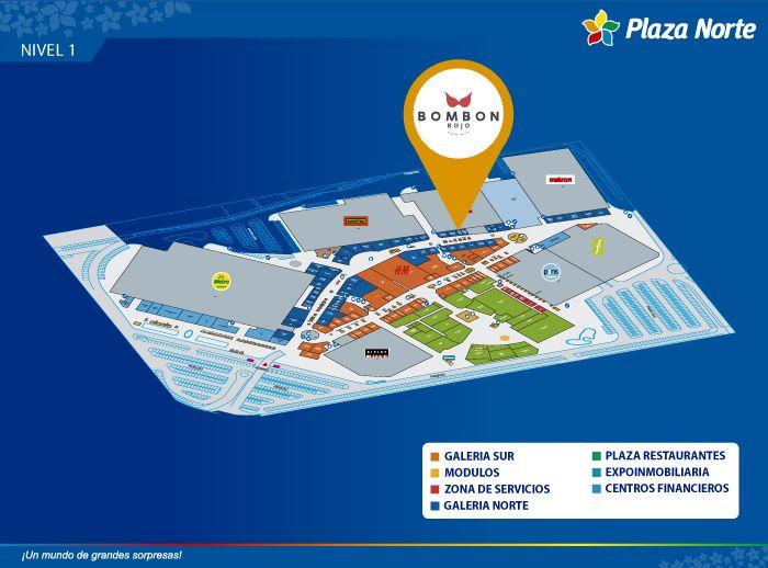 BOMBON ROJO - Mapa de Ubicación - Plaza Norte
