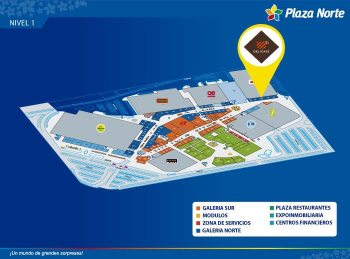 Delicass - Mapa de Ubicación - Plaza Norte
