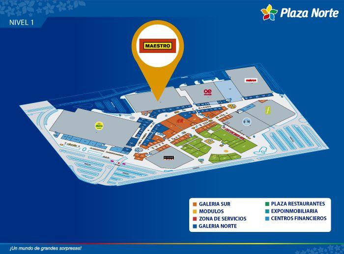Maestro Home Center - Mapa de Ubicación - Plaza Norte