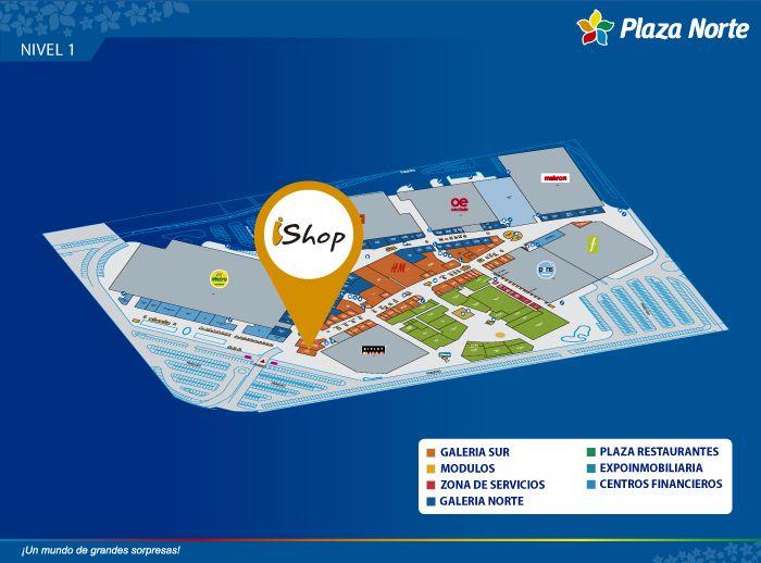 IShop - Mapa de Ubicación - Plaza Norte