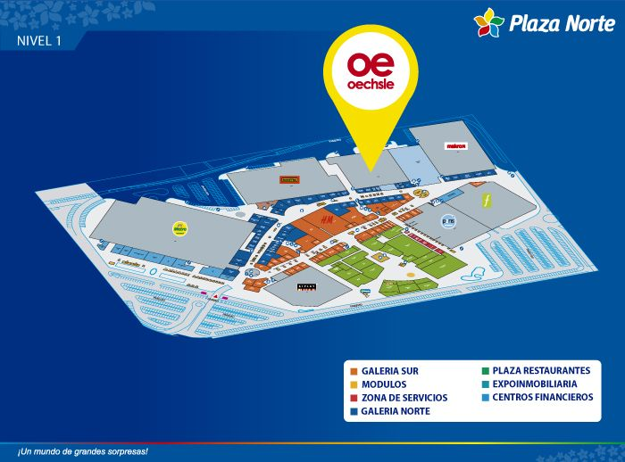 Oechsle - Mapa de Ubicación - Plaza Norte