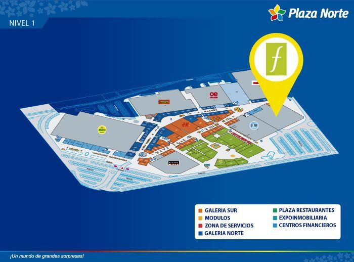 Saga Falabella - Mapa de Ubicación - Plaza Norte