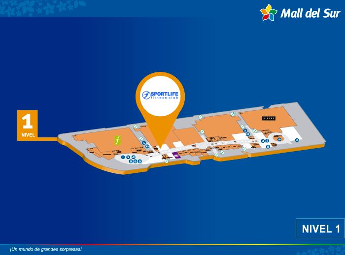 Sportlife Fitness Club - Mapa de Ubicación - Plaza Norte