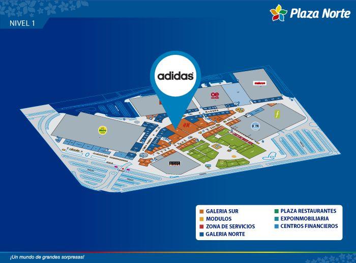 Adidas - Mapa de Ubicación - Plaza Norte