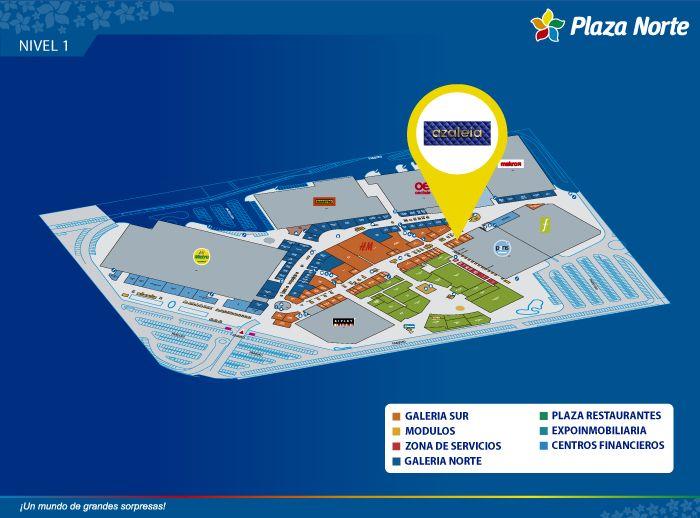 Azaleia - Mapa de Ubicación - Plaza Norte