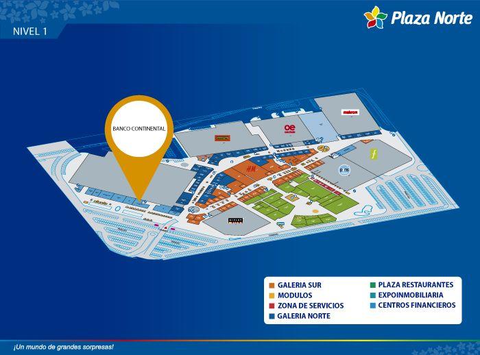 Banco Continental - BBVA - Mapa de Ubicación - Plaza Norte