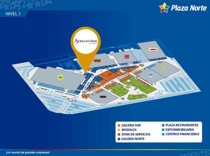 Banco de la Nación - Mapa de Ubicación - Plaza Norte